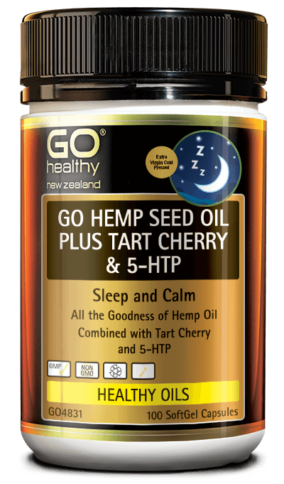 GO Healthy Hemp Seed Oil Plus Tart Cherry & 5HTP 100s